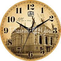 Настенные часы History 'Львов. Театр оперы и балета' d=330mm h=27мм (в часах нет секундной стрелки)