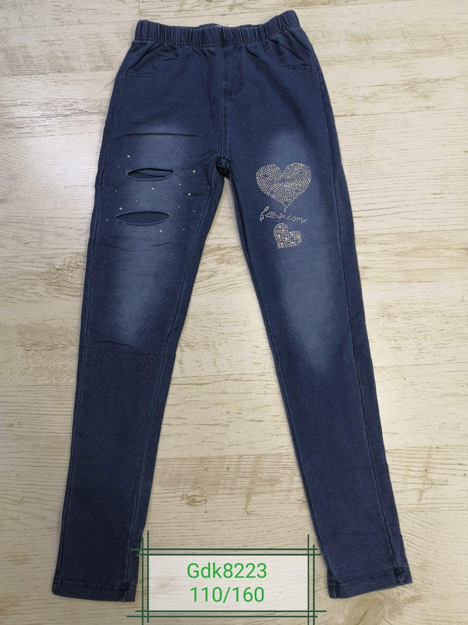 Лосины под джинс для девочек оптом, размеры 110-160р Glo-Story, арт. GDK-8223