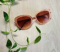 Солнцезащитные очки бабочка коричневые