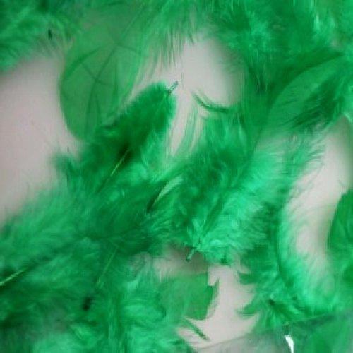 Пір'я декоративні 6-12 см-10 шт., зелені