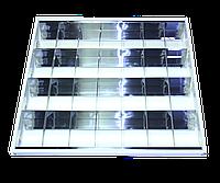 Растровый светильник зеркальный встраиваемый ЛВО 4х18 Вт ВАРИАНТ VS