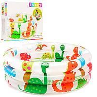 Детский надувной бассейн «Динозаврики» Intex 57106, детские бассейны Интекс