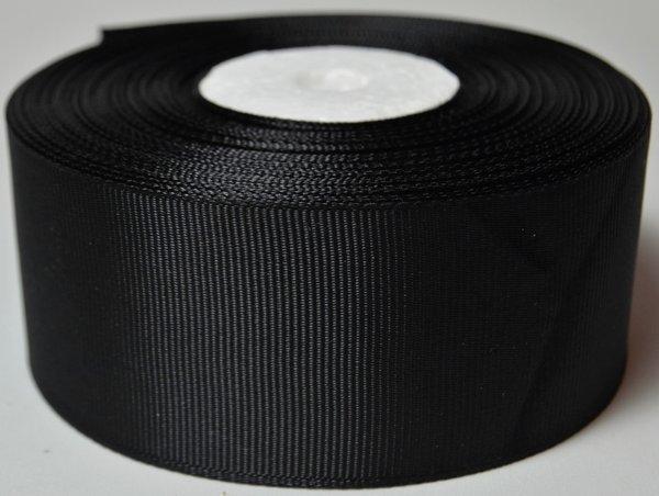 Лента репсовая 4 см, черная