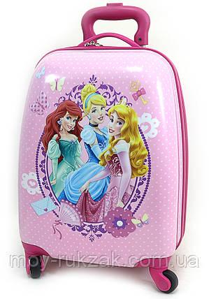 Детский чемодан дорожный Принцессы Princess, фото 2