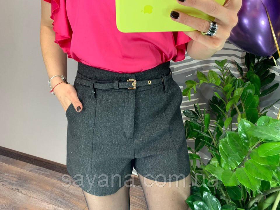 Женские шорты на подкладке с поясом и карманами. Д-28-0319