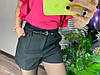 Женские шорты на подкладке с поясом и карманами. Д-28-0319, фото 2