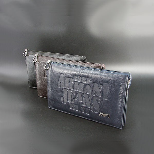 Сумка-клатч средняя кожаная для планшета клатч, 26x16х5 Armani 921-2
