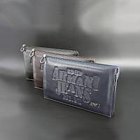 Сумка-клатч средняя кожаная для планшета клатч, 26x16х5 Armani 921-2, фото 1