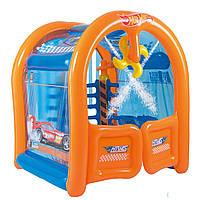 Надувной игровой центр Bestway 93406 Автомойка Hot Wheels с фонтанами