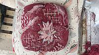 Модная мягкая накидка с резинкой на табурет Цветок, комплект 4 шт.