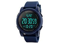 Спортивные водонепроницаемые часы Skmei 1257 с LED подсветкой  Синий