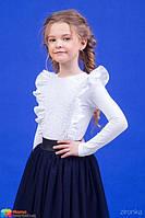 Трикотажная блузка Зиронька 26-9073-1, цвет белый