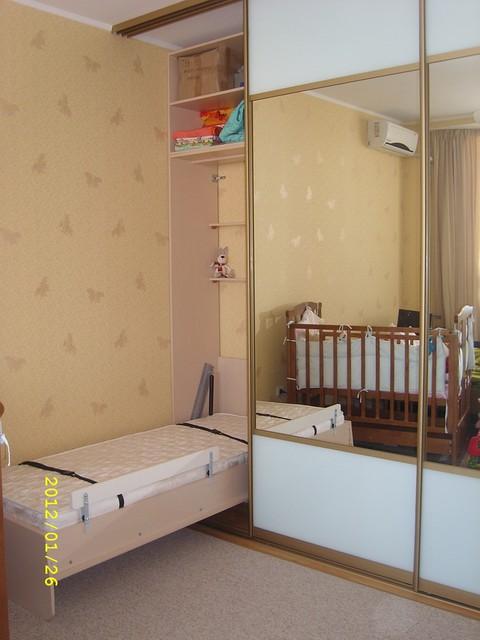 Шкаф-купе со встроенной подъемной кроватью, фото 1