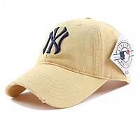 Кепка бейсболка NY New York Yankee Мужская / женская цвет Желтый