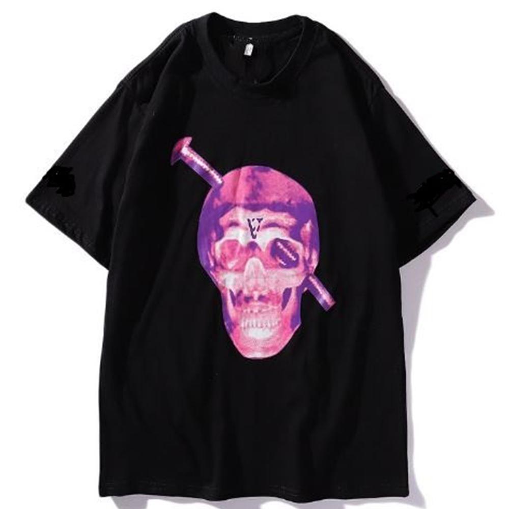 62da51071b8a4 Футболка Vlone Skull Black/Pink черная / Vlone Skull T-shirt / люкс реплика