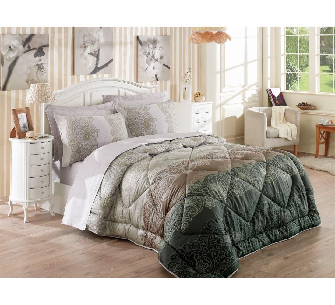 Постельное белье с одеялом Cotton Box Safiye евро- 4 наволочки
