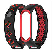 Ремешок для фитнес-браслета Xiaomi Mi Band 3, Black with red