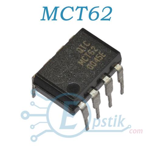 MCT62, Оптопара транзисторна, DIP8