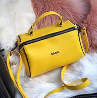 Сумка в стиле Zara цвет жёлтый экокожа, фото 1