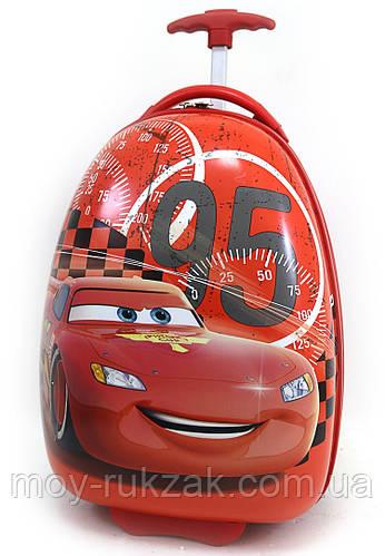 Детский чемодан дорожный на колесах Тачки-2