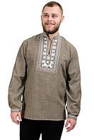 Мужская сорочка-вышиванка Орнамент - оливковая, фото 1