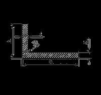 Алюминиевый уголок, Анод, 20х8х2 мм, фото 1
