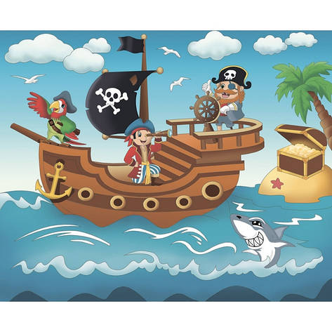 """Роспись по холсту. """"Пиратское приключение"""" 25*30 7140/2, фото 2"""
