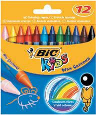 Воскові крейди BIC wax crayons (12 кольорів)