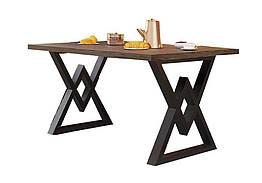 Стол Астон 120 Металл-Дизайн Лофт Аляска Черный бархат