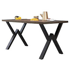 Стол Виннер 120 Металл-Дизайн Лофт Аляска Черный бархат