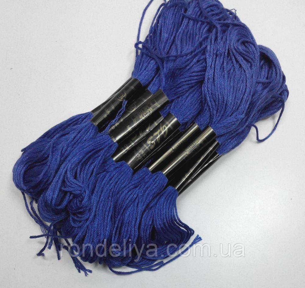Бавовняні Нитки муліне синьо-фіолетовий насичений