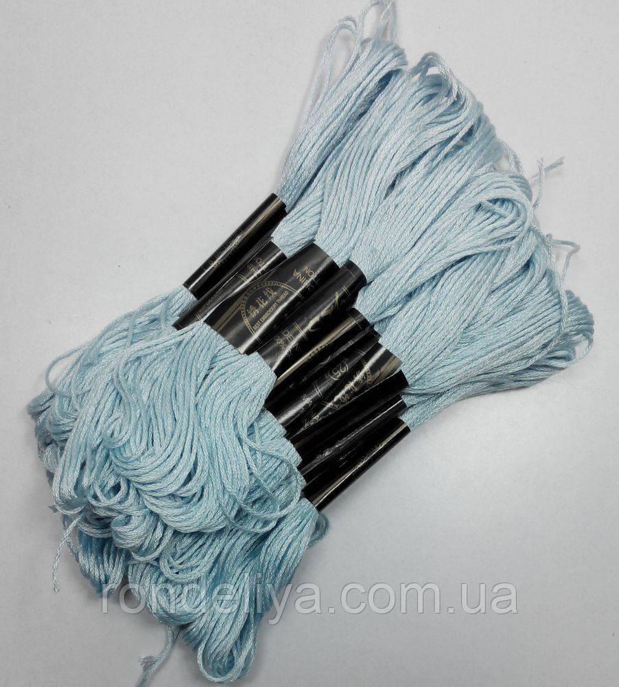 Нитки мулине хлопчатобумажные серо-голубой
