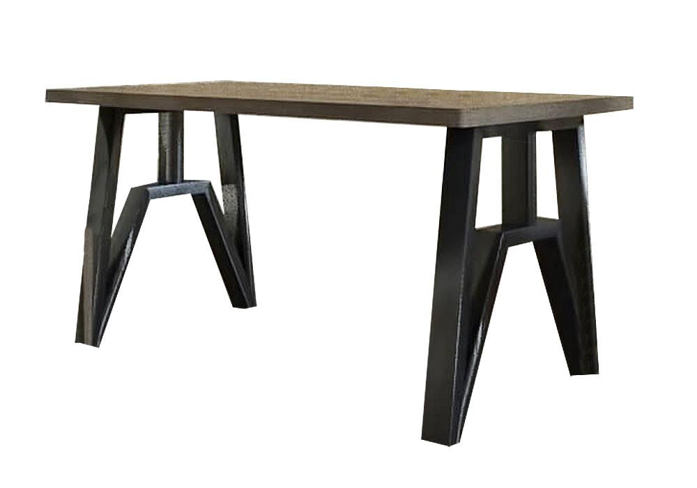 Стол Прайм 120 Металл-Дизайн Лофт Аляска Черный бархат