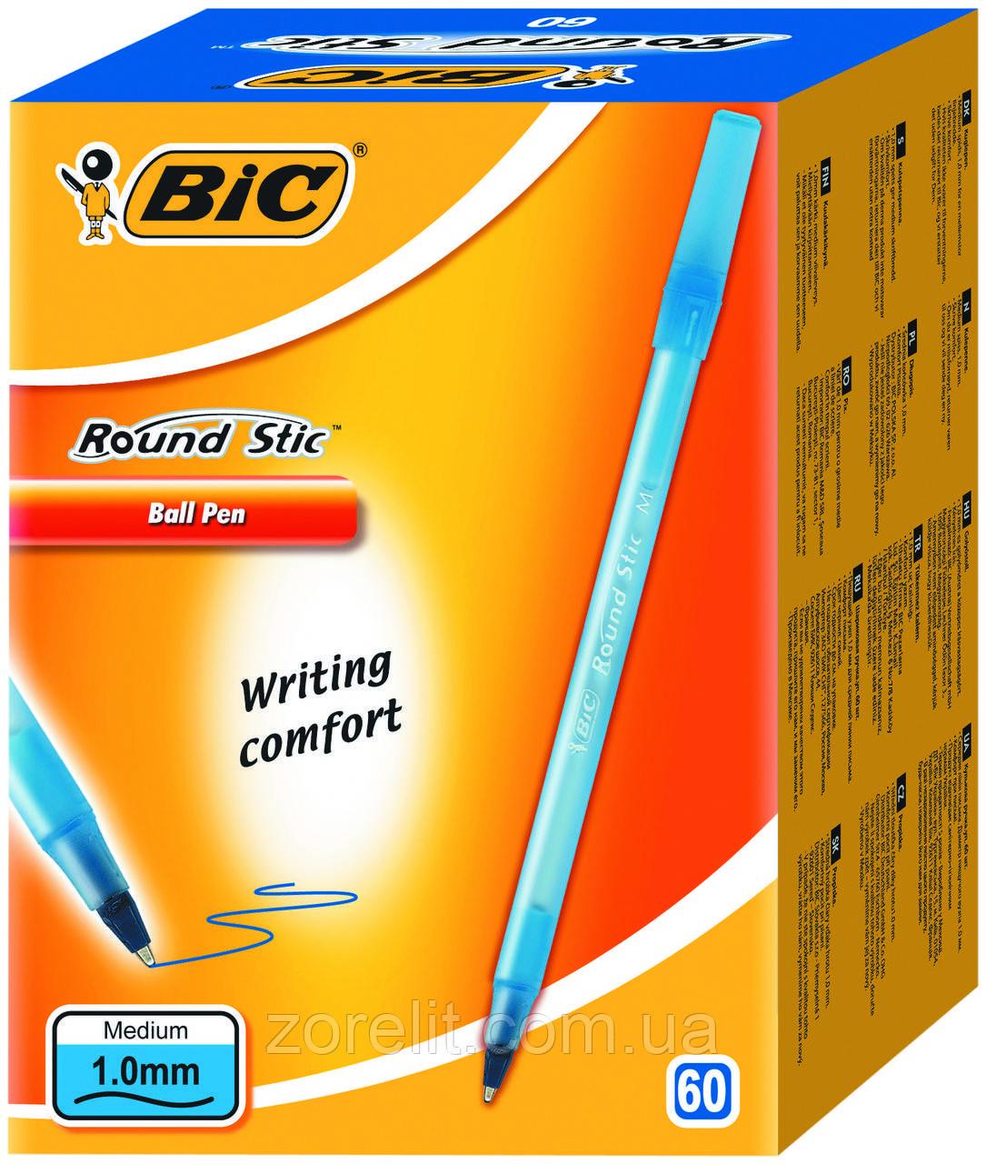 Ручка кулькова BIC раунд стік синя