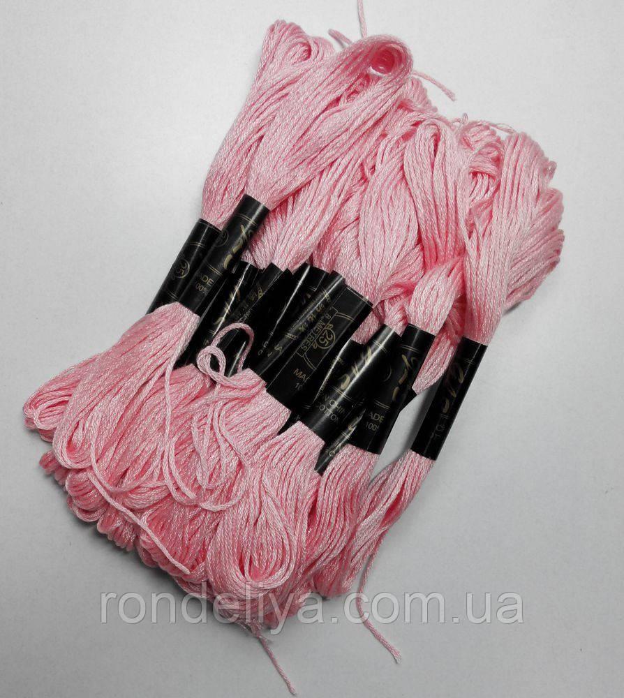 Бавовняні Нитки муліне пурпурно-рожевий