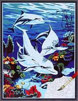 Картина по номерам MENGLEI Подводный мир (ME101) 30 х 40 см