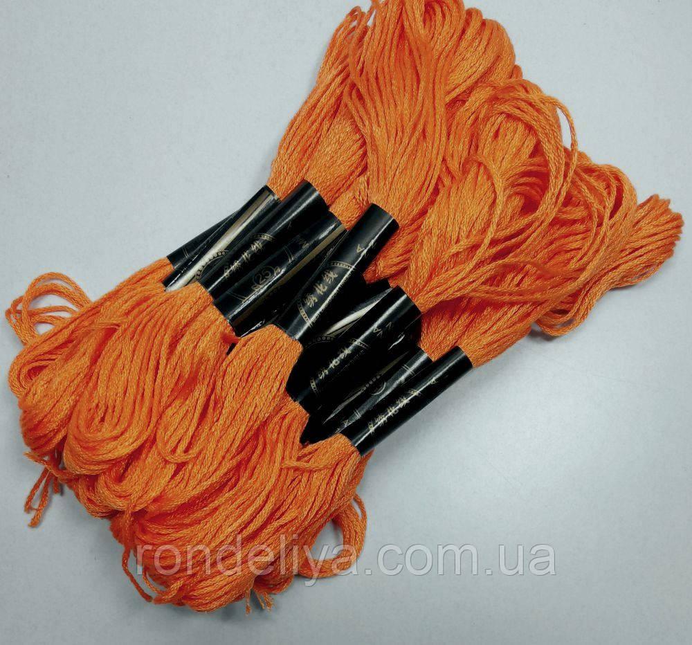 Нитки мулине хлопчатобумажные оранжевый