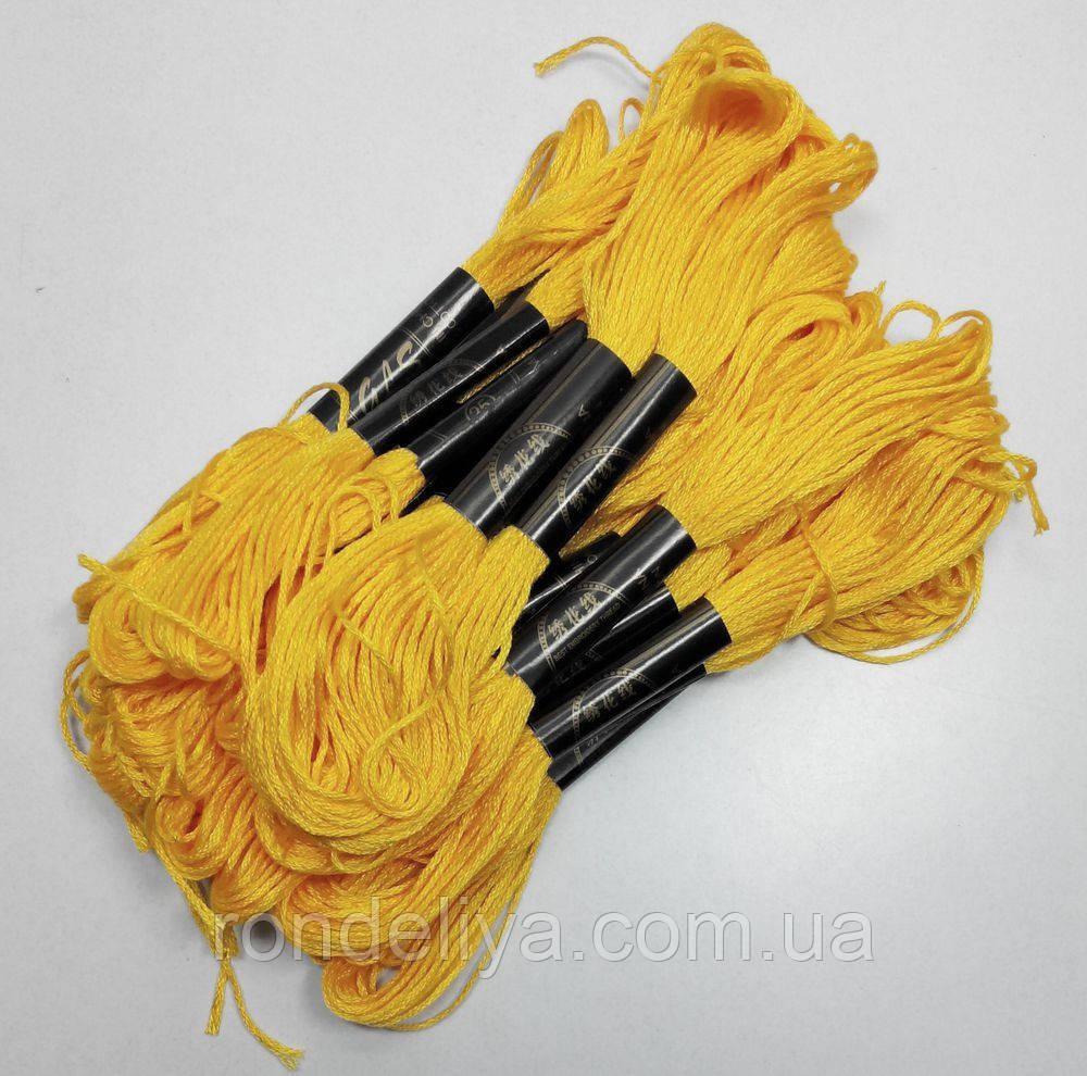 Бавовняні Нитки муліне темно-жовтий