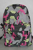 Рюкзак городской серо-розовый, объем 15 литров, фото 1