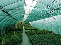 Затеняющая сетка купить 80% затенения (Китай) зелёная 6м х 10м
