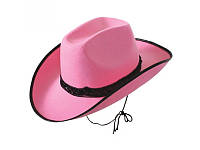 Шляпа Ковбойская розовая