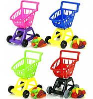 Тележка детская супермаркет с фруктам/овощами ORION 693-V3