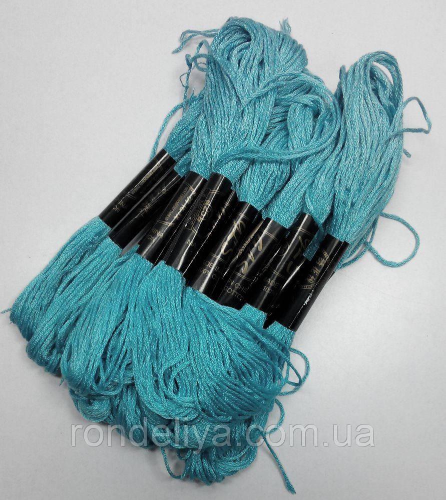 Нитки мулине хлопчатобумажные светлая морская волна