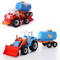 Детская машина трактор с прицепом Тигр молоковоз