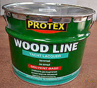 Лак яхтный полиуретановый (глянцевый) Wood Line Yacht Lacquer  Protex  10 л