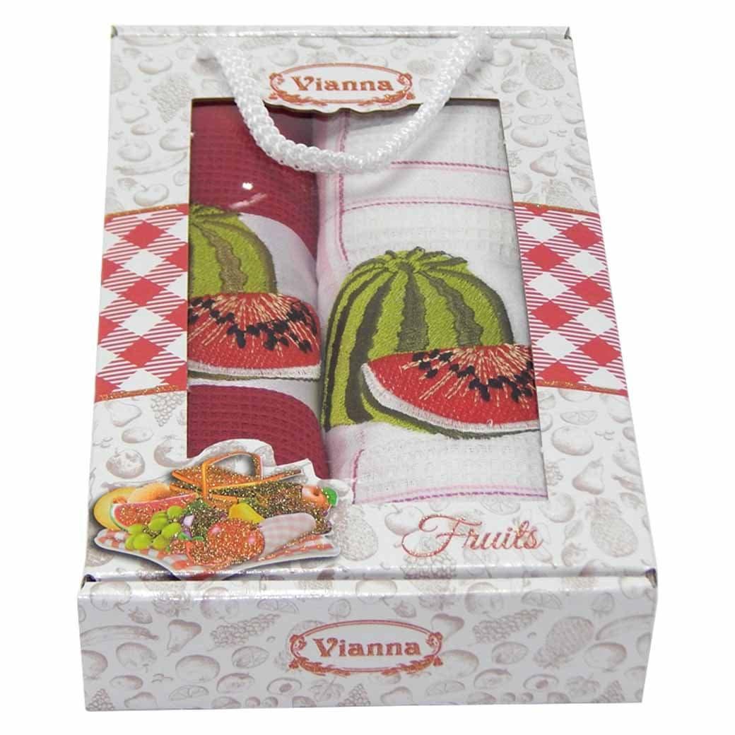 Салфетки Vianna Premium 45*65 2 штуки  вафельные 45*65, 1