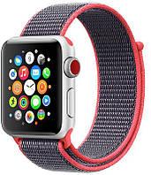 Ремешок UWatch Nylon for Apple Watch 42 mm Flash Red