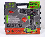 Шуруповерт STROMO SA214Li (21 В, ударный с гибкий валом), фото 2