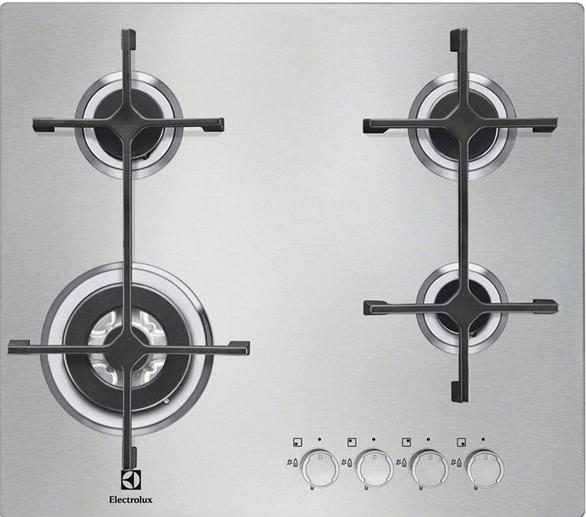 Варочная поверхность Electrolux EGS 6343 NOX (газовая поверхность, 60 см, 4 конфорки)