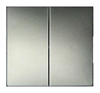 Лицевая панель 2-х клавишного выключателя Legrand Valena Алюминий (770252)